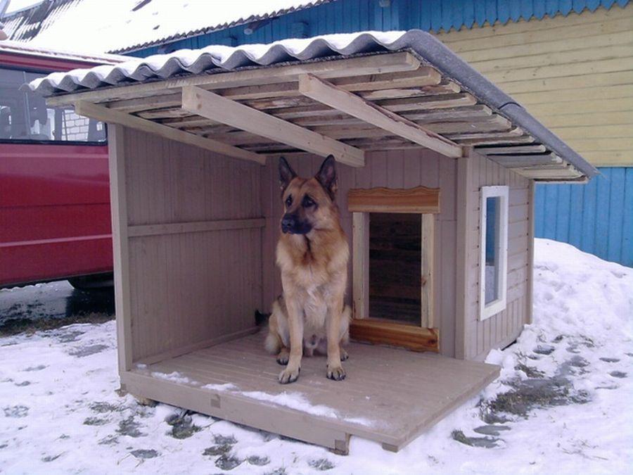 Самая простая собачья будка своими руками