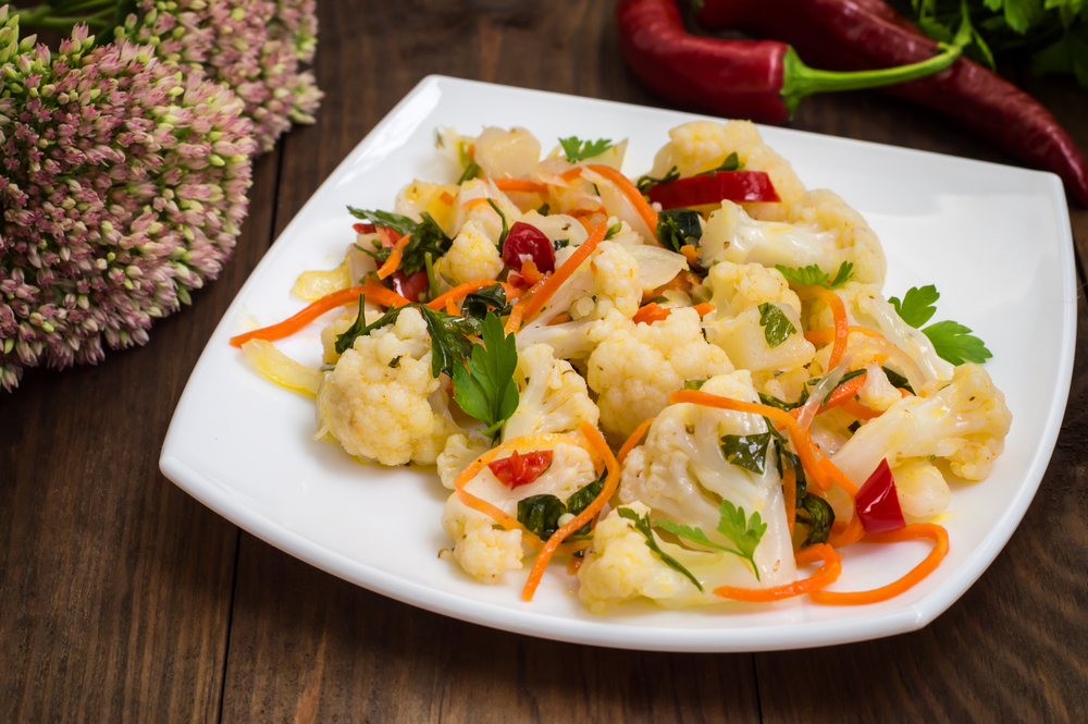 Цветная капуста по-корейски - вкусное диетическое блюдо. Яичная диета - здоровое похудение!