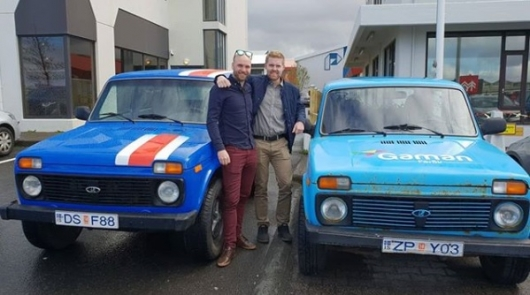 Из Исландии в Россию на Чемпионат по футболу 2018 на «Ниве»