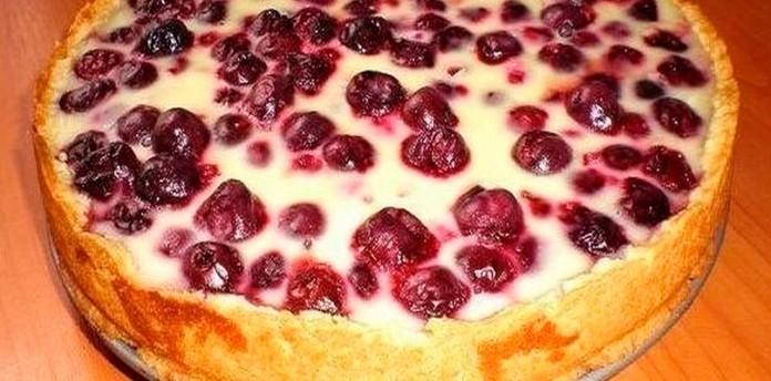 Заливной пирог с ягодами. Oч…
