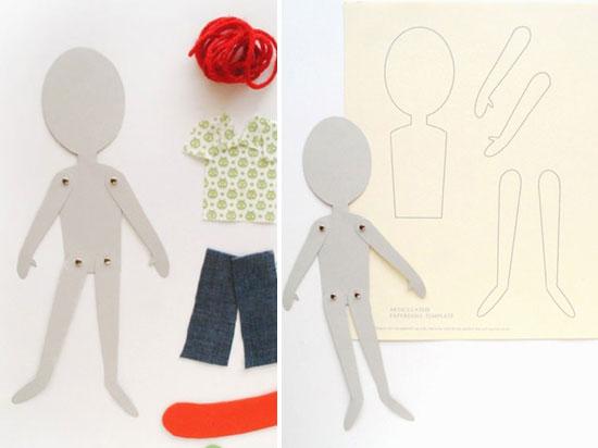 Как сделать своими руками куклу из бумаги с одеждой