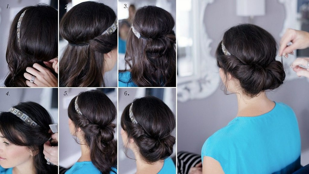 Греческая прическа своими руками на средние волосы видео