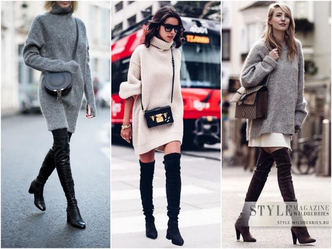 Выбираем стильное вязаное платье на каждый день!