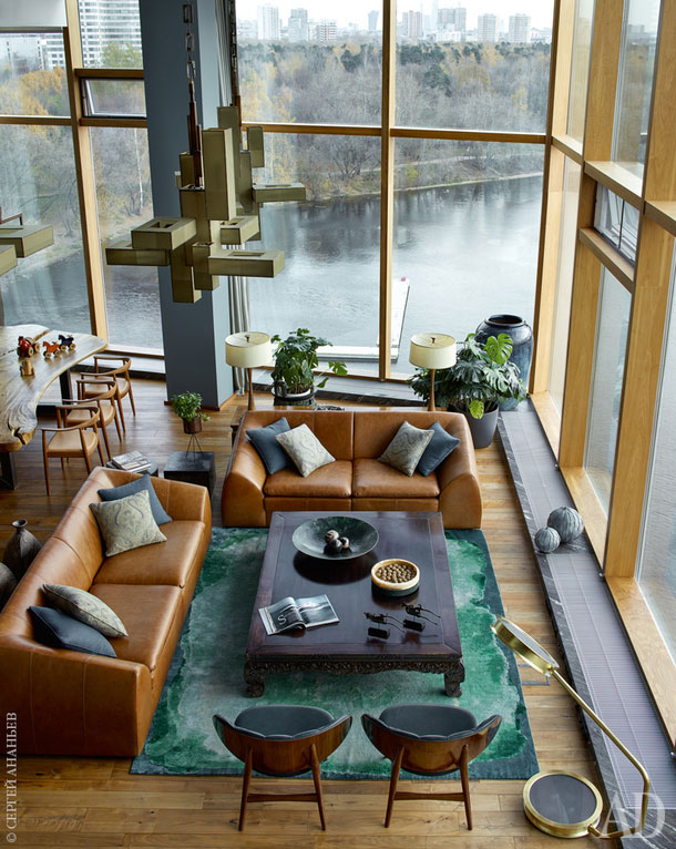 «Парящая» над водой квартира в Москве (600 кв. м)