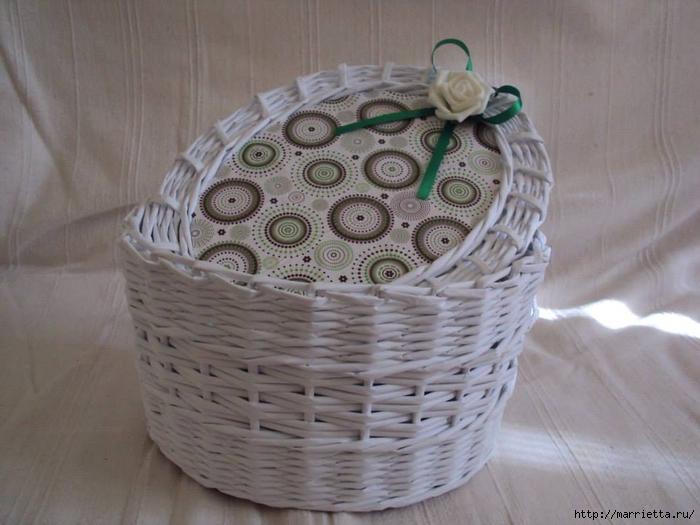 Плетение из газет. Идеи и мастер-класс на донышко плетенки (15) (700x525, 228Kb)