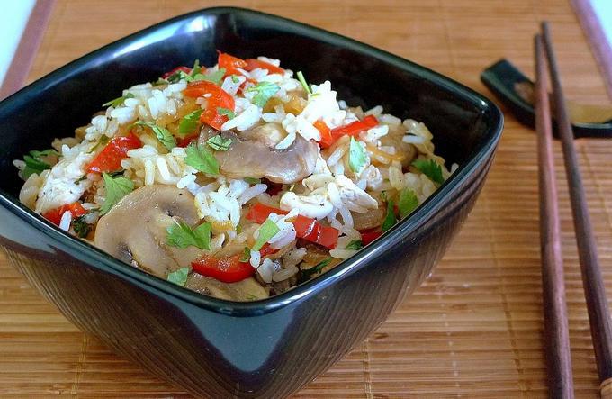 Рис «Жасмин» с овощами и курицей