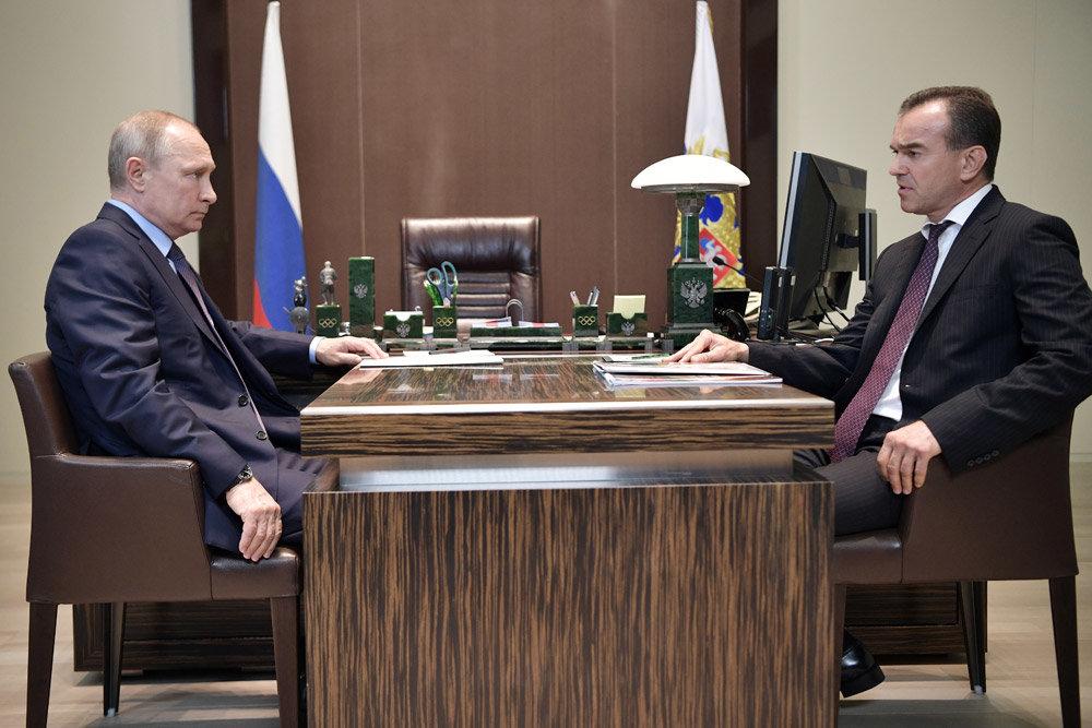 Путину рассказали об успехах на Кубани
