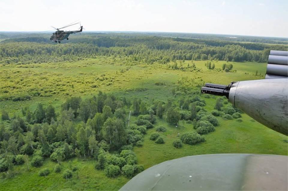 Боевые учения военных вертол…