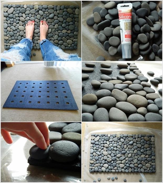 Оригинальный каменный коврик.