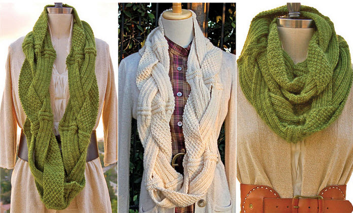Готовь сани летом... Оригинальный шарф снуд.  Схема и описание