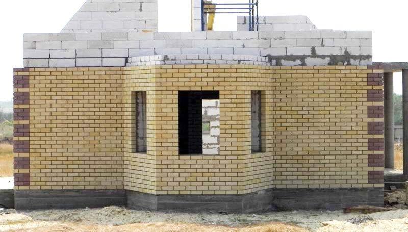 Наружная отделка фасада дома…