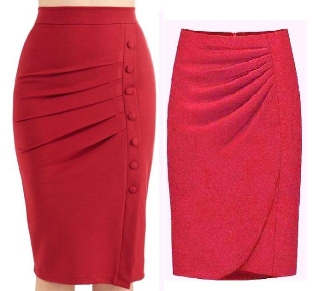 Выкройка модельной юбки с драпировкой