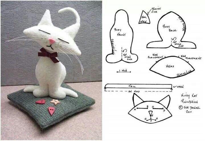 Сшить кота из ткани своими руками