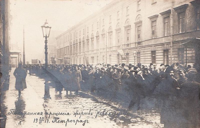 Похоронная процессия  жертв революции 23 марта 1917 г.