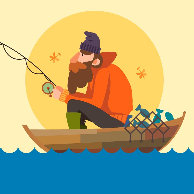 Анекдот о том, как мужик рыбу в речке выгуливал
