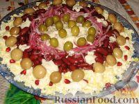 """Фото приготовления рецепта: Праздничный салат """"Колесо обозрения"""" - шаг №4"""