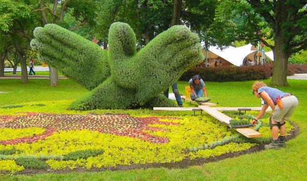 Скульптуры из растений. Международная выставка в Монреале