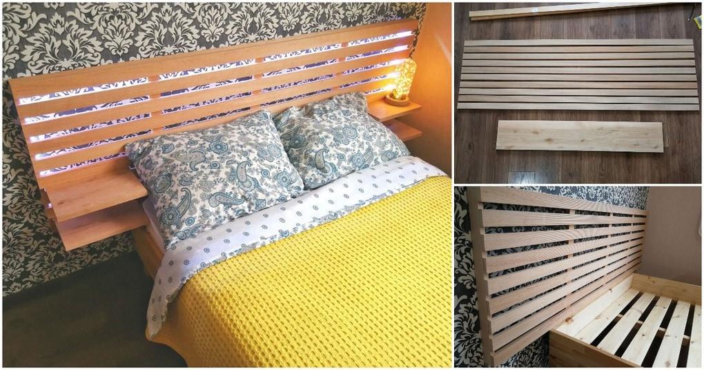 Простое в исполнении, стильное и практичное обновление кровати