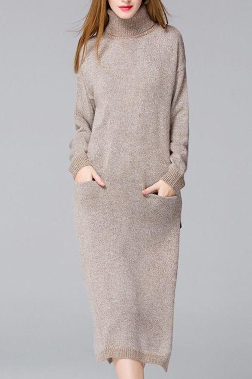 Теплые платья на осень: модная вязь