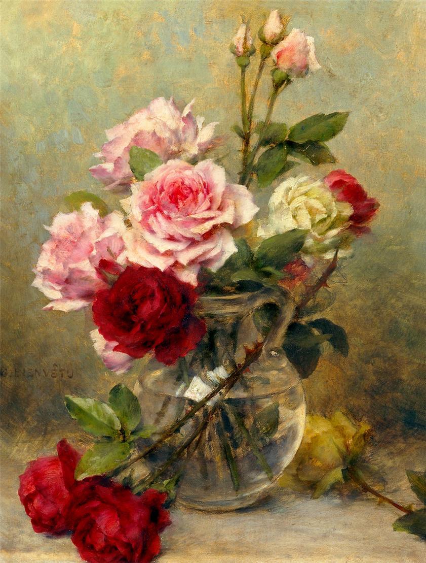 У нежной розы вечная краса...подборка натюрмортов, где в главноой роли - царица цветов