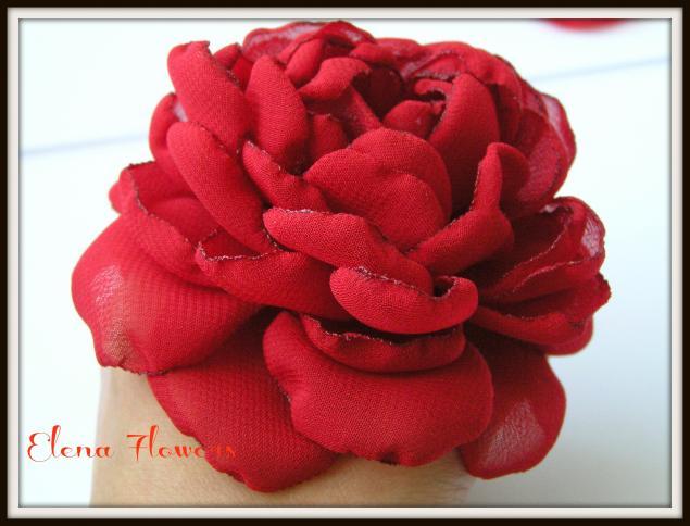 Шифоновые цветы мастер класс инструкция #7