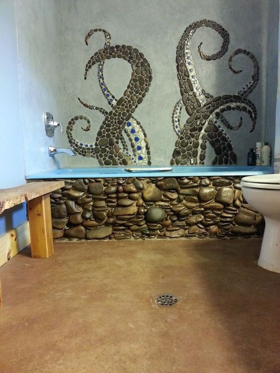 Осьминоги в ванной комнате (подборка)