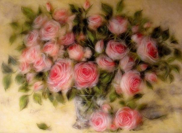 Восхитительные картины из шерсти Марины Аскеровой