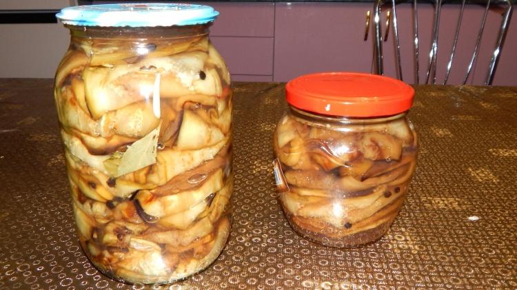 Маринованные баклажаны с медом