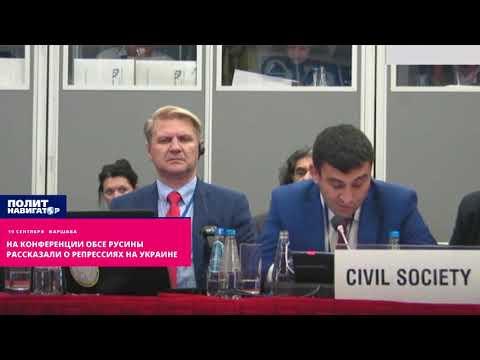 На конференции ОБСЕ русины рассказали о репрессиях на Украине