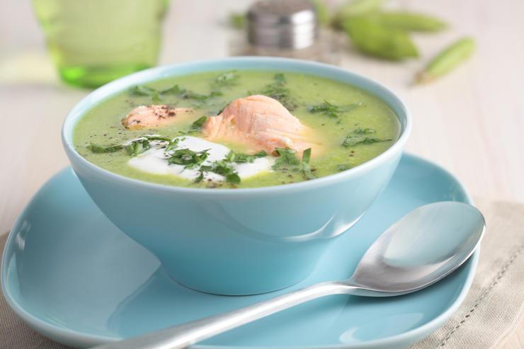 Сливочный суп с семгой «Норвежец»