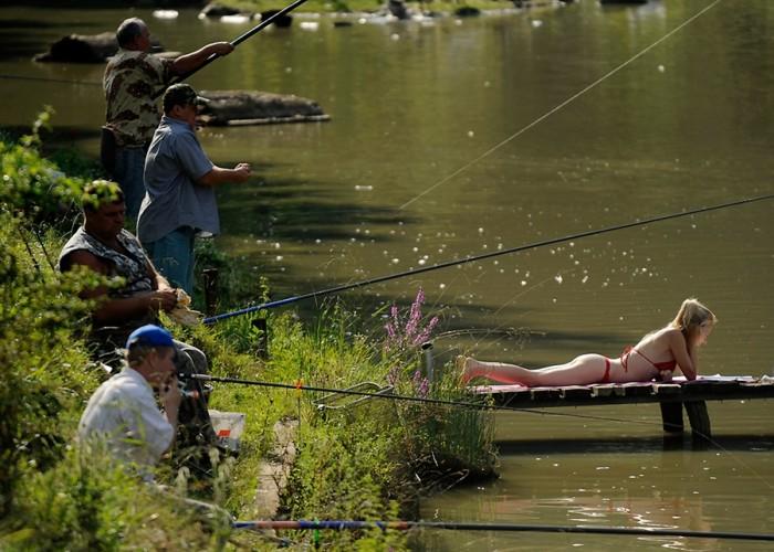 Интересная подборка прикольных видео про рыбалку