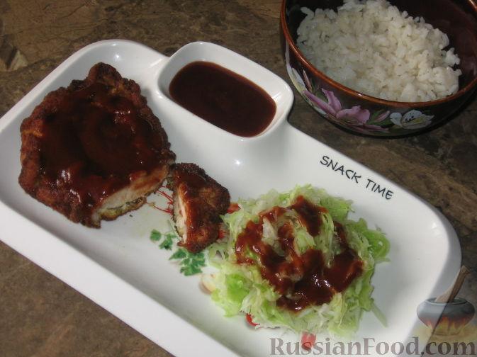 Фото приготовления рецепта: Тонкацу - отбивная по-японски - шаг №1