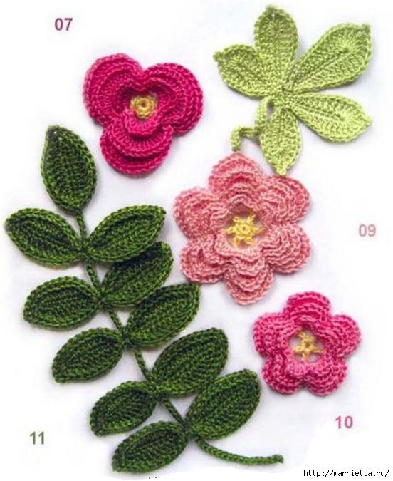 Цветы своими руками со схемами