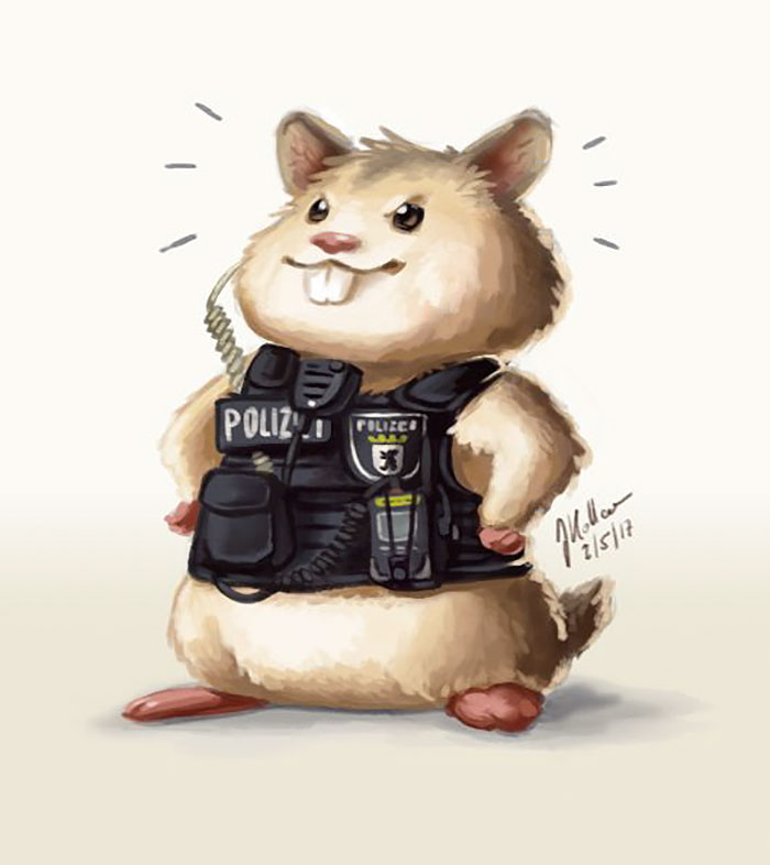 Hamster Left To Die Gets Rescued By Police Officers, And Now They're Fighting Crime Together