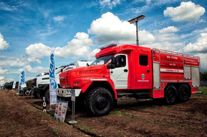 «ГАЗ» продемонстрировал новейшие автомобили Урал для полиции и МЧС
