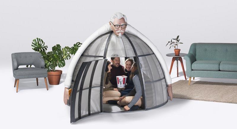 Юрта за 10 тысяч долларов: KFC выпустили палатку, блокирующую интернет