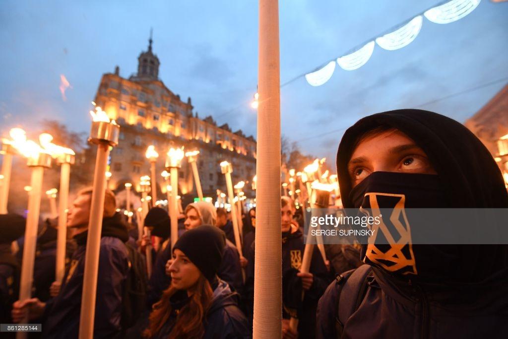 Марш националистов в Киеве (фото).