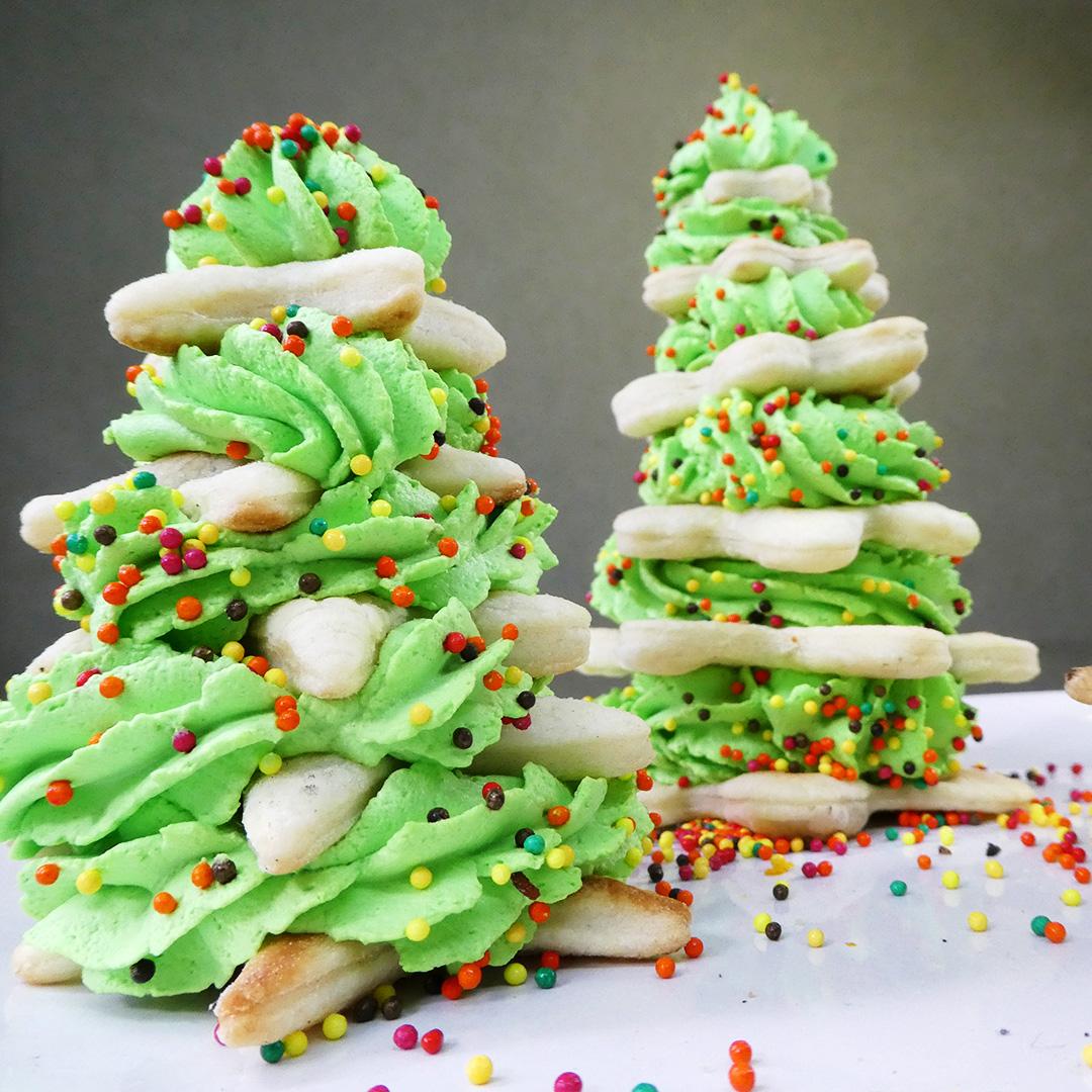 Новогодние ёлочки — самый простой десерт!