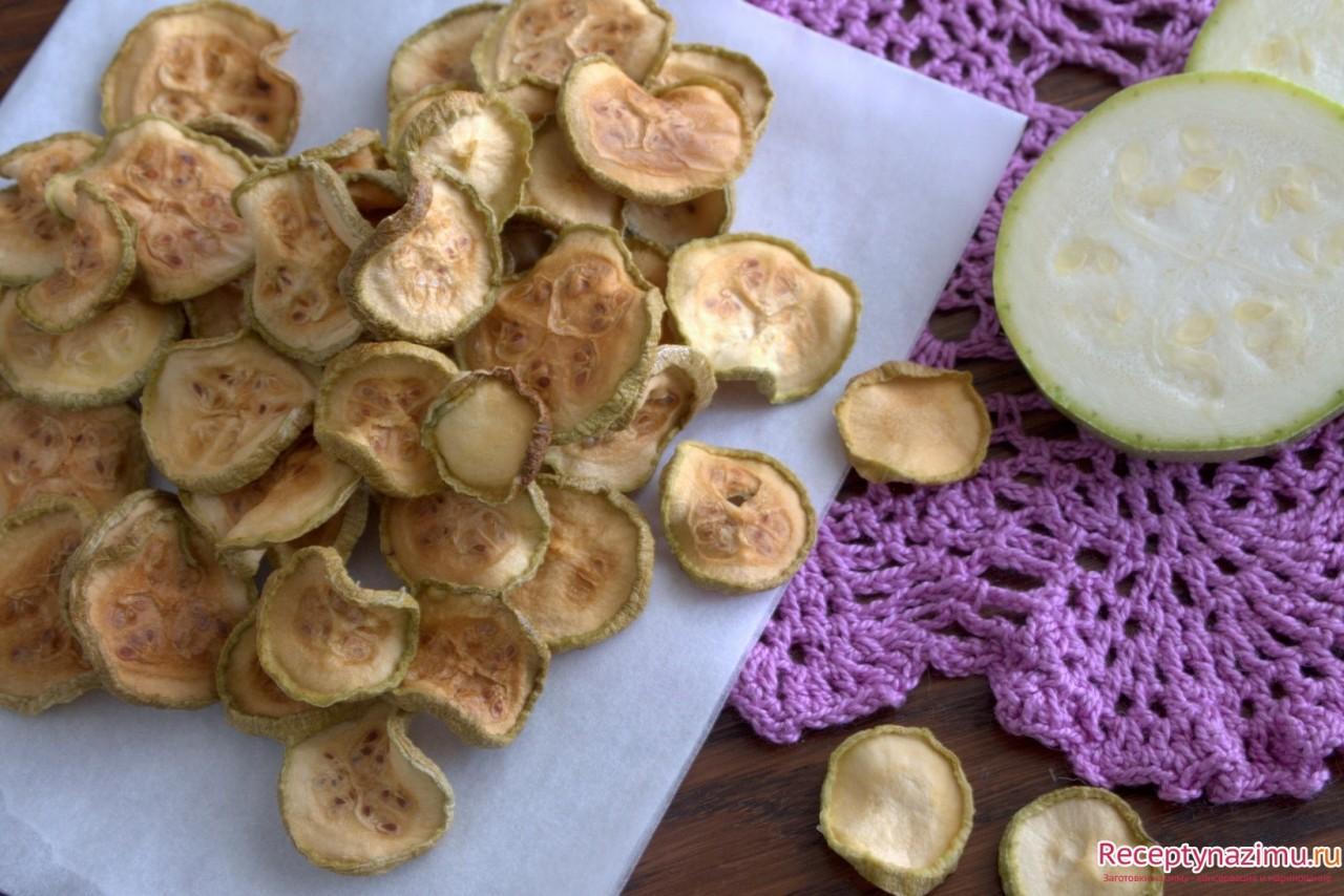 Сушеные кабачки на зиму и их восстановление и приготовление