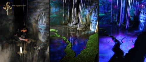 Настенная живопись Боджи Фабиан, превращающая комнаты в фантастические миры (20 фото)