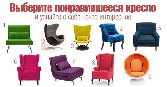 Выберите кресло, в которое вы бы сели, и узнайте кое-что новенькое о себе