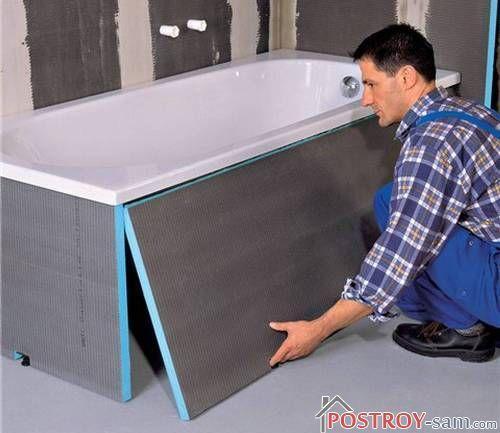 Самостоятельное изготовление экрана под ванну