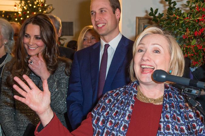 Хиллари Клинтон научила беременную Кейт Миддлтон петь колыбельные