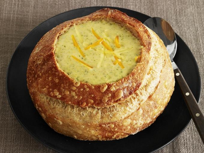 Суп-пюре в хлебе