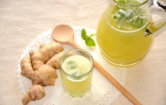 Лимонно-имбирный напиток