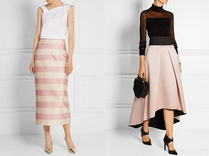Элегантные юбки до щиколоток в коллекциях 2018