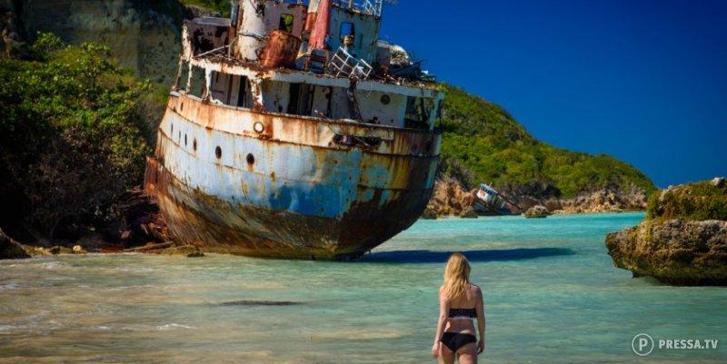 Великолепные пляжи, на которых остались следы кораблекрушений