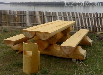 Скамья для дачи своими руками из дерева