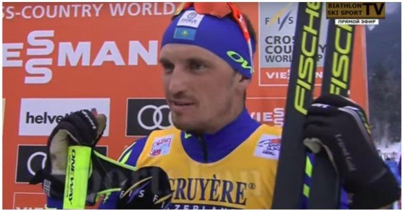 И победил и повеселил! Казахстанский лыжник дал эпичное интервью после победы Алексей Полторанин, видео, интервью, казахстан, лыжи, лыжник, победа, прикол, спорт