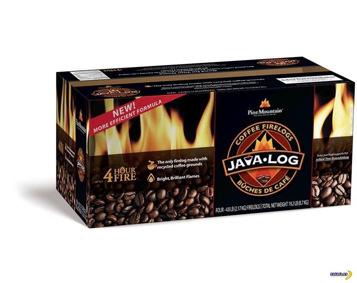 Безотходное производство –поленья из кофе
